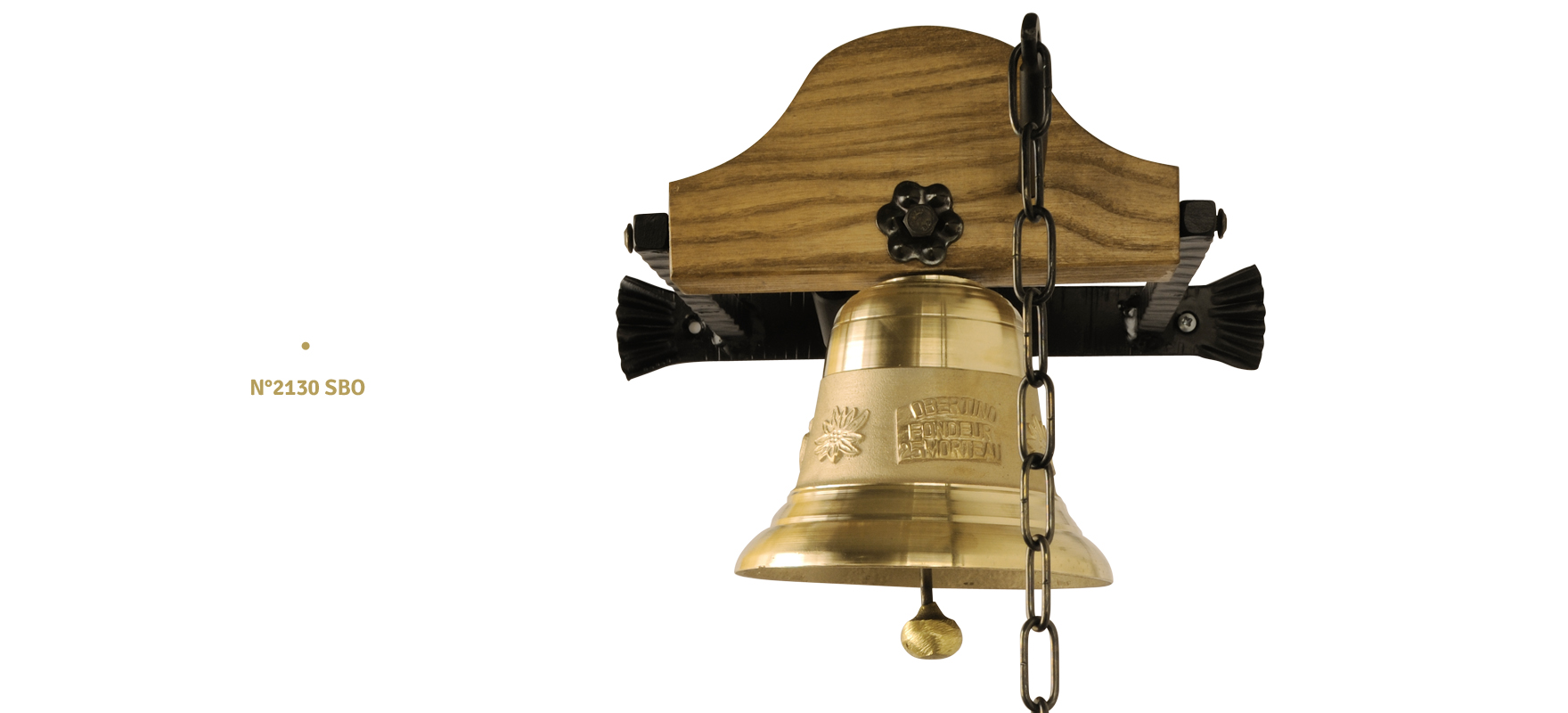 Bell with wooden support