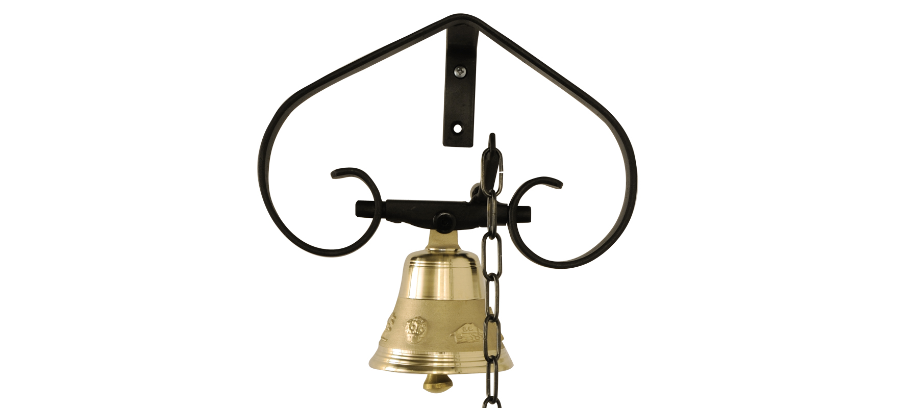 Bell with iron support