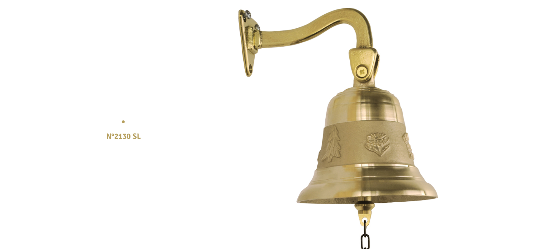 Bell with brass support