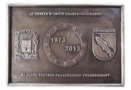 Plaque en bronze pour le 40ème anniversaire du jumelage Morteau-Vöhrenbach